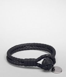 Leather BraceletSmall Leather Goods100% Nappa leatherBlack Bottega Veneta®