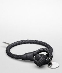 Leather BraceletSmall Leather Goods100% LambskinBlack Bottega Veneta