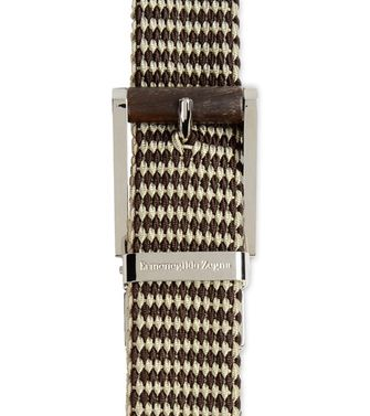 ERMENEGILDO ZEGNA: Belt Dark brown - 46281258PK