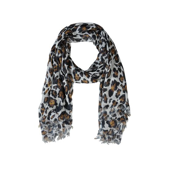 Stella McCartney, Leopard Print Silk Mix Scarf