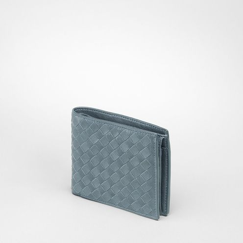 WalletSmall Leather GoodsLambskinBlue Bottega Veneta®