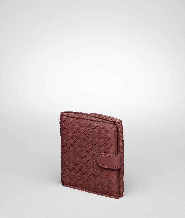 BOTTEGA VENETA Edoardo Intrecciato Nappa French Flap Wallet Continental Wallet D fp