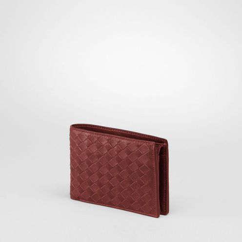 WalletSmall Leather GoodsLambskinRed Bottega Veneta®