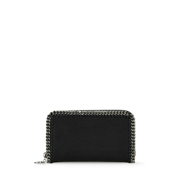 Stella McCartney, Portefeuille Falabella avec fermeture clair en imitation cerf