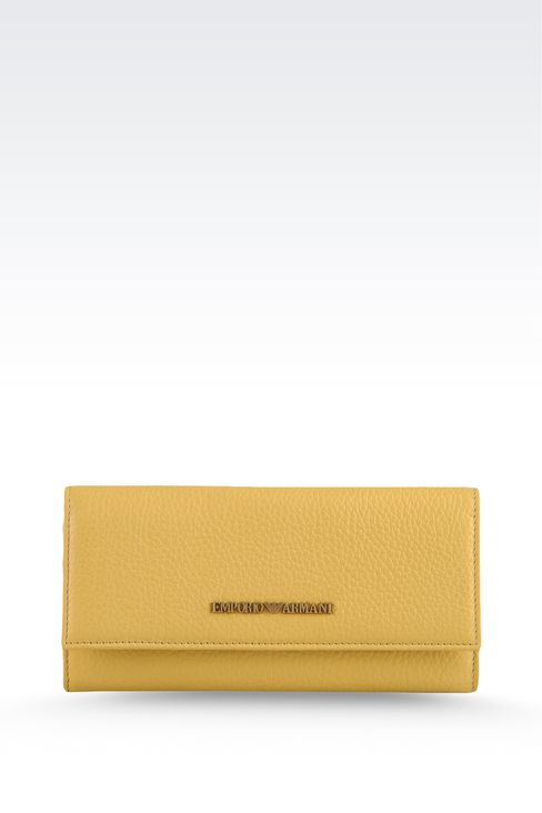 CALFSKIN WALLET: Wallets Women by Armani - 1
