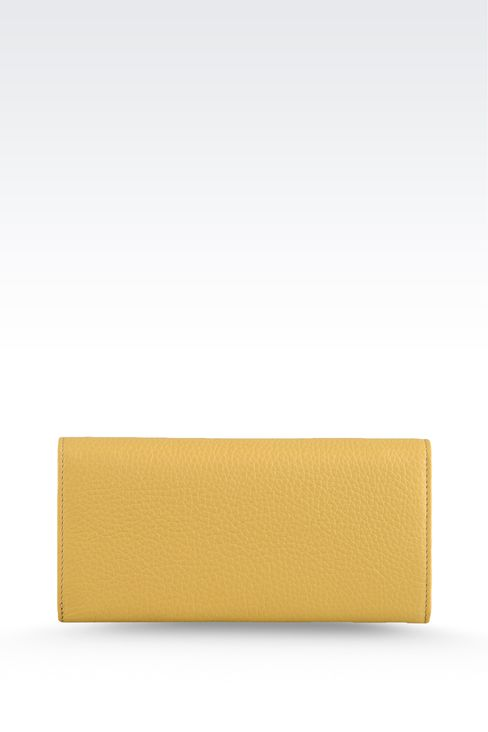 CALFSKIN WALLET: Wallets Women by Armani - 2