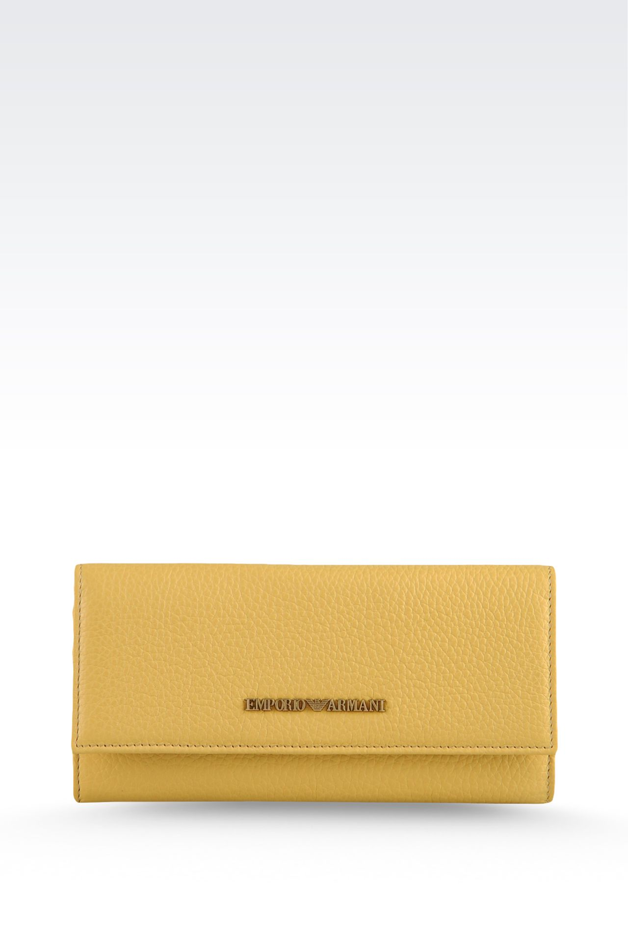CALFSKIN WALLET: Wallets Women by Armani - 0