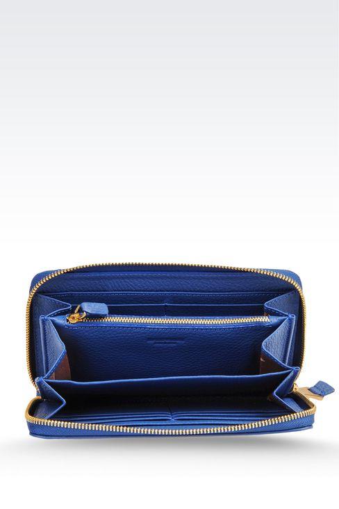 ZIP-AROUND WALLET IN PRINTED CALFSKIN: Wallets Women by Armani - 3