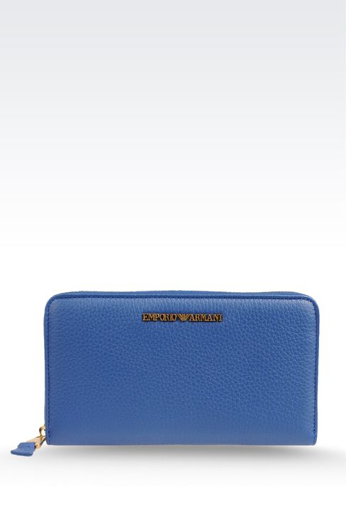 ZIP-AROUND WALLET IN PRINTED CALFSKIN: Wallets Women by Armani - 1