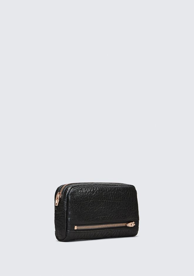 ALEXANDER WANG FUMO CONTINENTAL WALLET IN  BLACK PEBBLE LEATHER WITH ROSEGOLD Wallets Adult 12_n_d