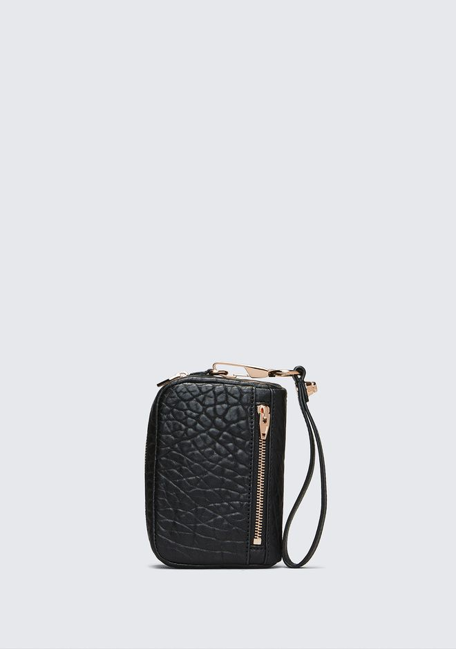 ALEXANDER WANG accessories LARGE FUMO IN PEBBLED BLACK WITH ROSE GOLD