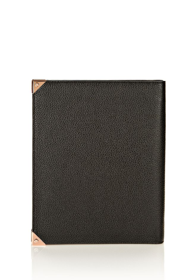 ALEXANDER WANG PRISMA IPAD CASE IN BLACK PEBBLE WITH ROSEGOLD TECH Adult 12_n_d