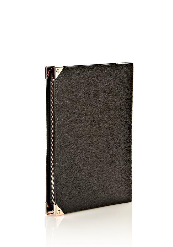 PRISMA IPAD CASE IN BLACK PEBBLE WITH ROSEGOLD