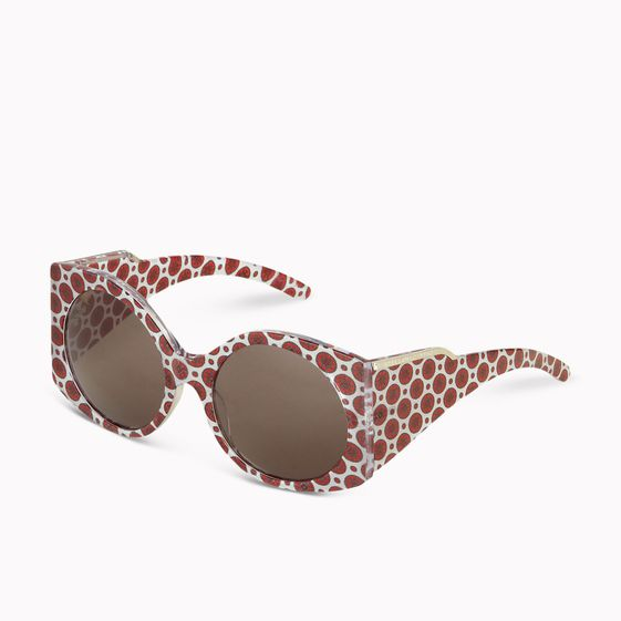 Stella McCartney, Lunettes de soleil Oriental Circle  grande monture avec imprim
