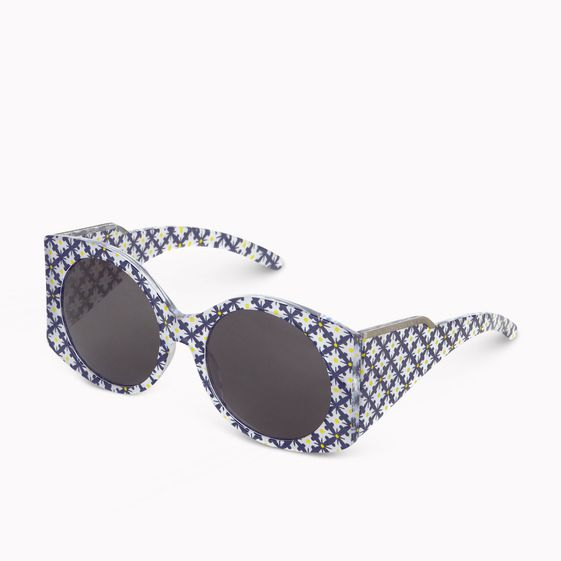 Stella McCartney, Oriental Circle Print Large Frame Sunglasses