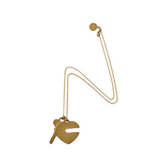 Stella McCartney, Key and Heart Necklace