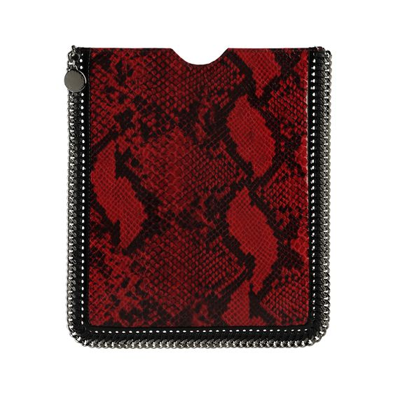 Stella McCartney, iPad-Etui in Pythonlederoptik