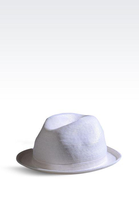 NARROW BRIM HAT WITHOUT VEIL: Hats Women by Armani - 1