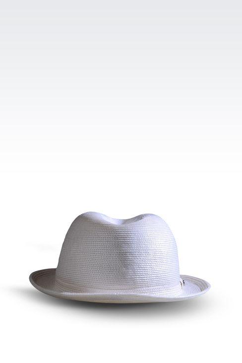 NARROW BRIM HAT WITHOUT VEIL: Hats Women by Armani - 2