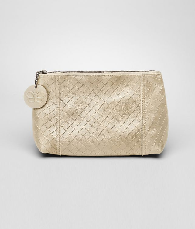 BOTTEGA VENETA Antique Intrecciomirage Cosmetic Case Other Leather Accessory D fp