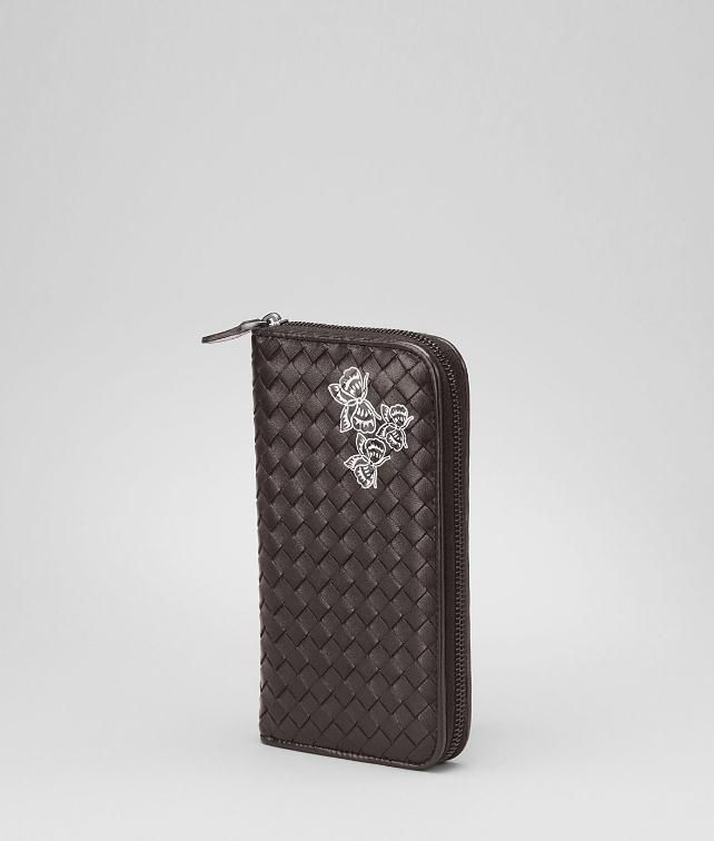 Intrecciato Nappa Papillon Zip Around Wallet