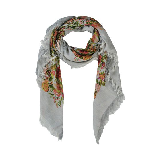 Stella McCartney, Flora Jacquard Printed Scarf 