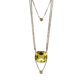 STELLA McCARTNEY, Jewellery, Rose Gold Brass and Stones Triple Pendant Necklace