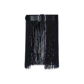 STELLA McCARTNEY, Belt, Wide Faux Leather and Fringe Belt