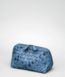 Cosmetic CaseSmall Leather GoodsAyers, Nappa leatherBlue Bottega Veneta®