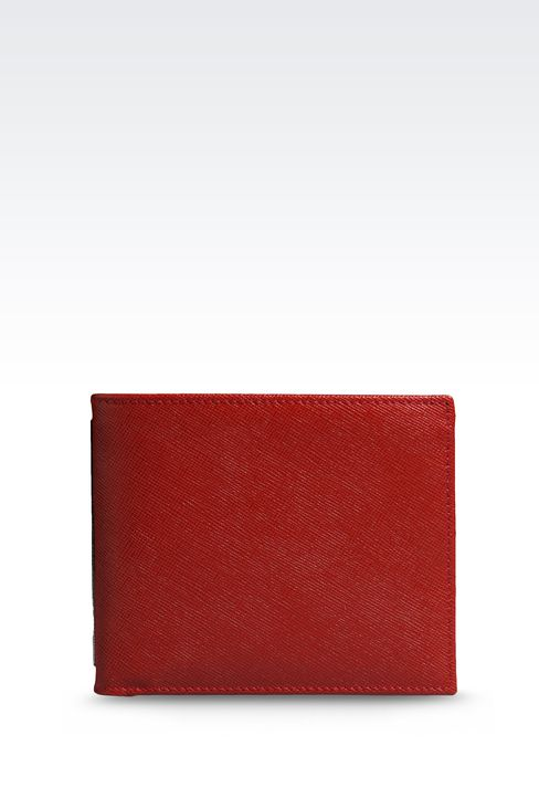 BI-FOLD WALLET IN SAFFIANO CALFSKIN: Wallets Men by Armani - 1