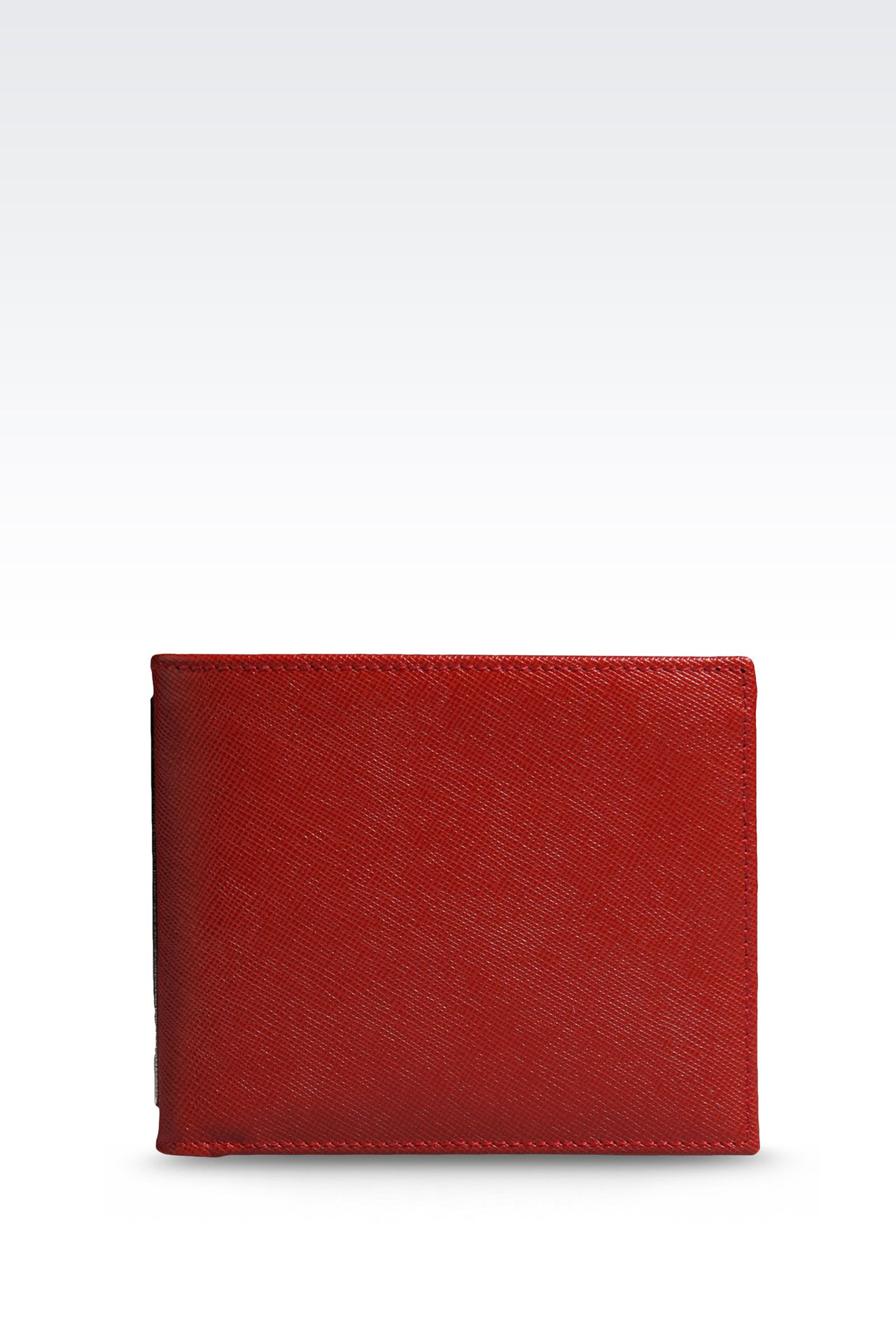 BI-FOLD WALLET IN SAFFIANO CALFSKIN: Wallets Men by Armani - 0