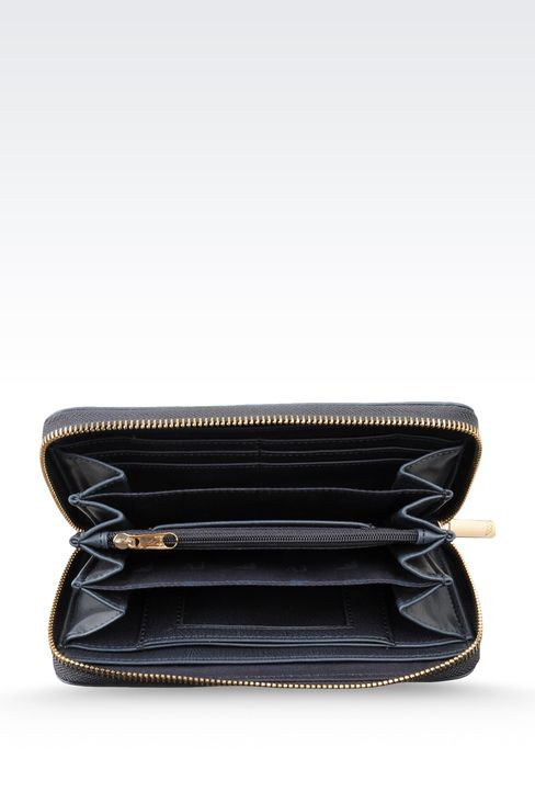 WALLET IN ECO LEATHER WITH LOGO: Wallets Women by Armani - 3