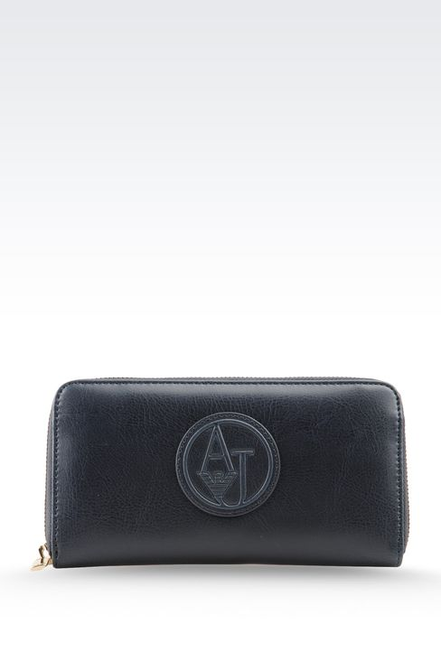 WALLET IN ECO LEATHER WITH LOGO: Wallets Women by Armani - 1