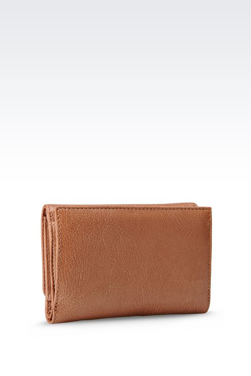 BUTTON WALLET IN ECO LEATHER WITH LOGO: Wallets Women by Armani - 2
