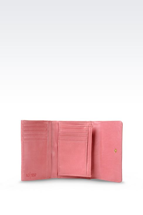 BUTTON WALLET IN ECO LEATHER WITH LOGO: Wallets Women by Armani - 3