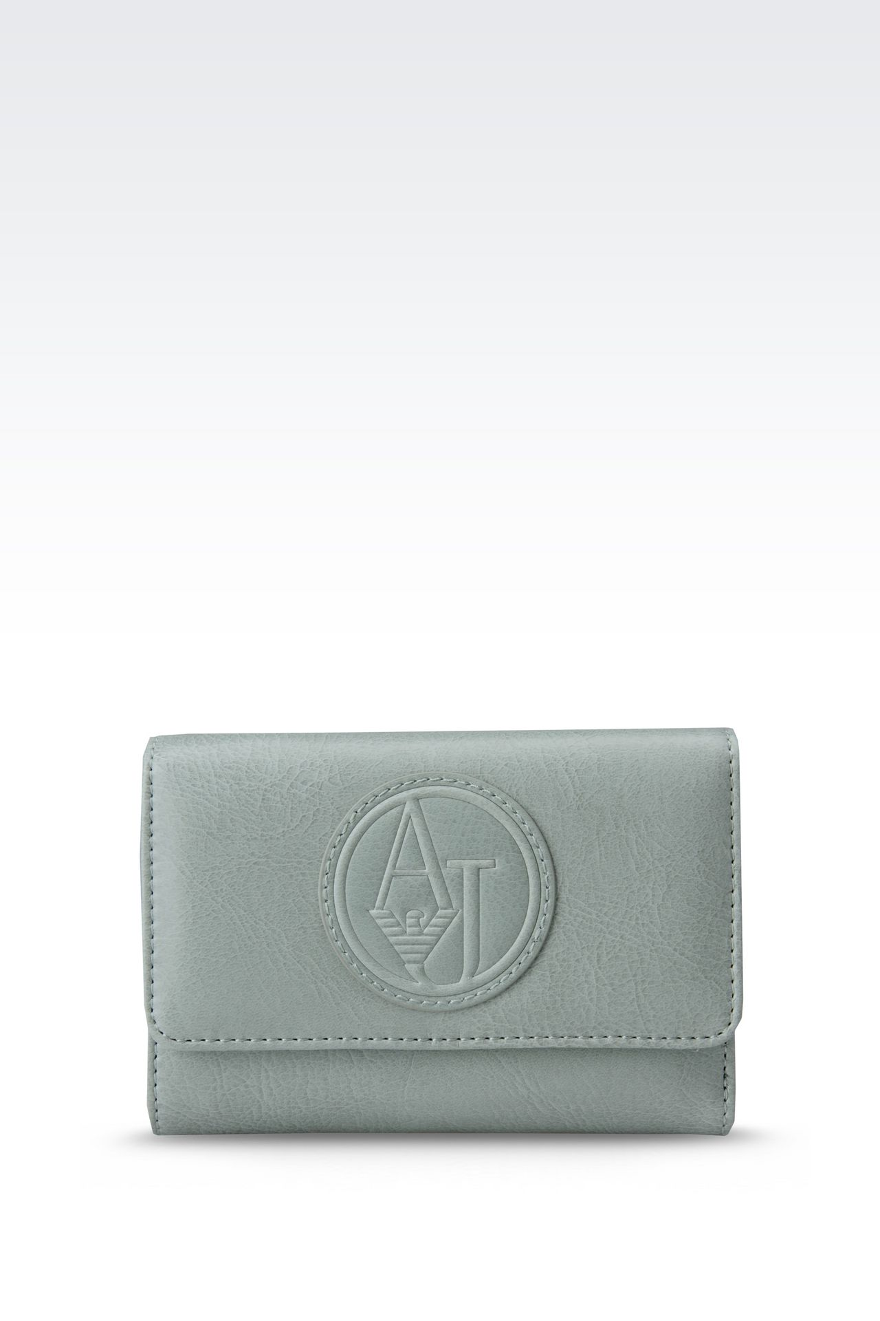 BUTTON WALLET IN ECO LEATHER WITH LOGO: Wallets Women by Armani - 0