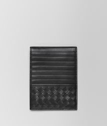 BOTTEGA VENETA - Card Cases and Coin Purses, Nero Intrecciato Light Calf Card Case