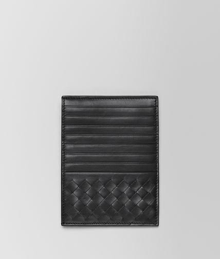 BOTTEGA VENETA - Nero Intrecciato Light Calf Card Case