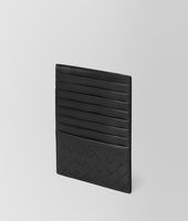 CARD CASE IN NERO INTRECCIATO CALF