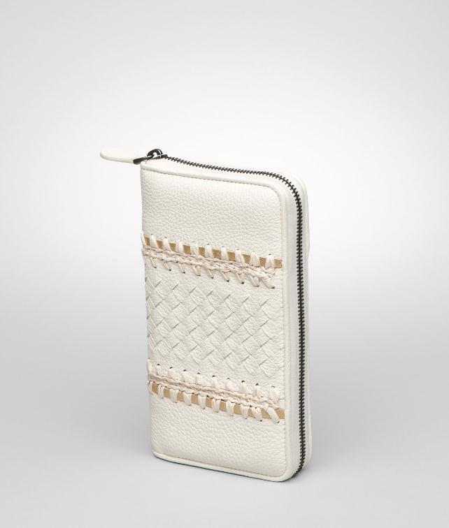 BOTTEGA VENETA Cervo Uncinetto Silk Continental Wallet Wallet D fp