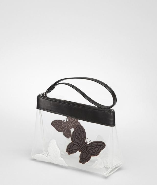 BOTTEGA VENETA Crystal Butterfly Document Case Cosmetic Case D fp