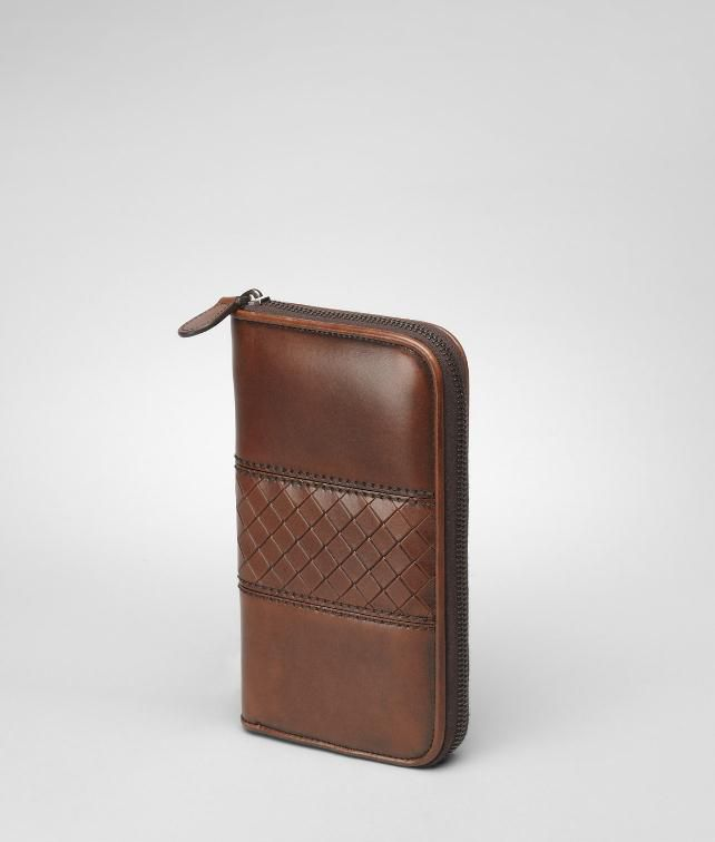 Intreccio Scolpito Zip Around Wallet