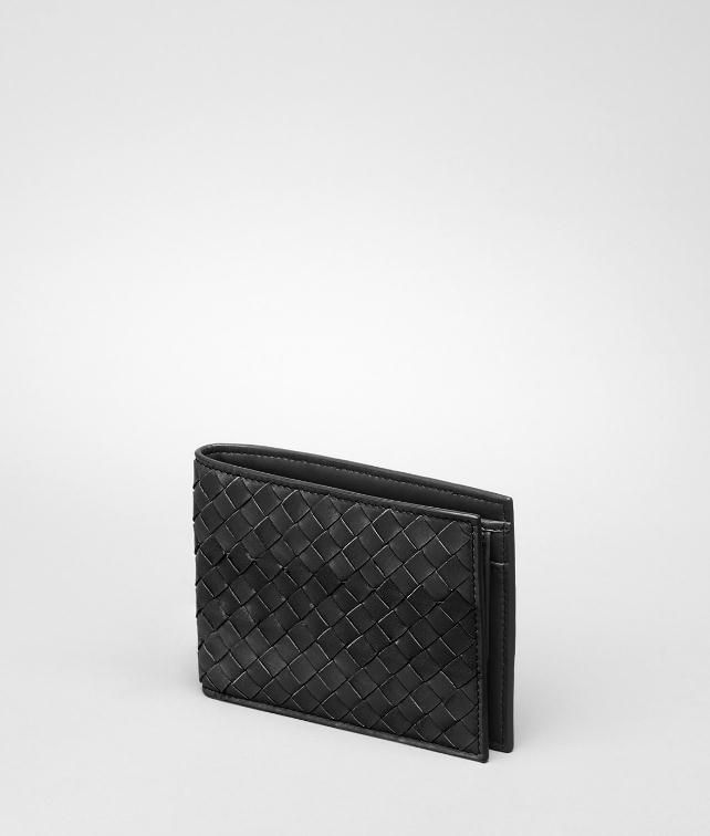 Intrecciato Waxed Vitello Laque Wallet