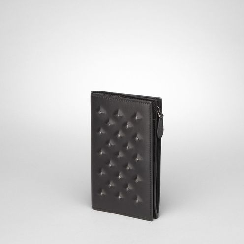 WalletSmall Leather GoodsLambskinBlack Bottega Veneta®