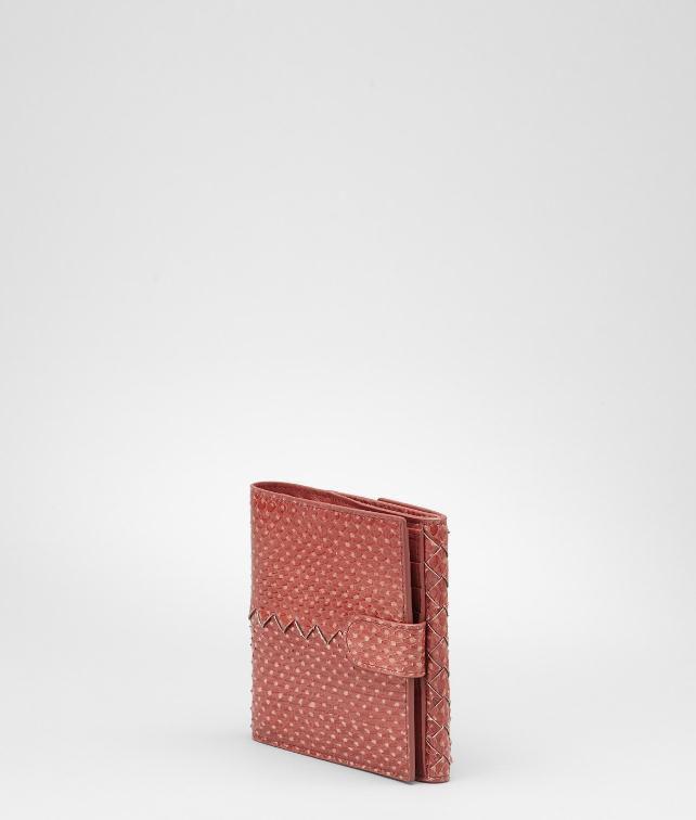 Intrecciato Snakeskin Wallet