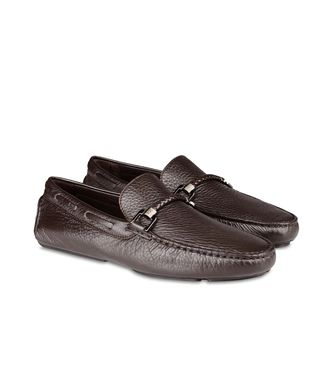 ERMENEGILDO ZEGNA: Loafers Pastel blue - Dark brown - Brown - 46289411OL