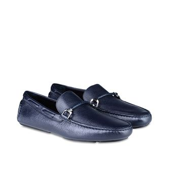 ERMENEGILDO ZEGNA: Loafers Pastel blue - Dark brown - Brown - 46289411TO