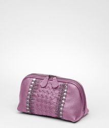 Cosmetic CaseSmall Leather GoodsLeatherPurple Bottega Veneta