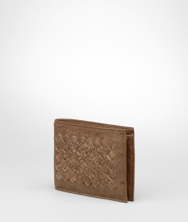 BOTTEGA VENETA Intrecciato Antique Ostrich Wallet Wallet U fp