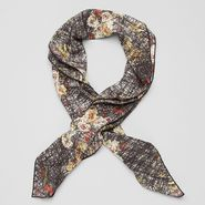 Silk Scribble Floral Print Foulard - Scarf - BOTTEGA VENETA - PE13 - 410